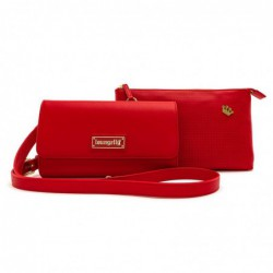 Loungefly Red Pin Trader Crossbody bag